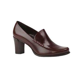 Franco Sarto Nolan Heeled Loafers Brown Leather